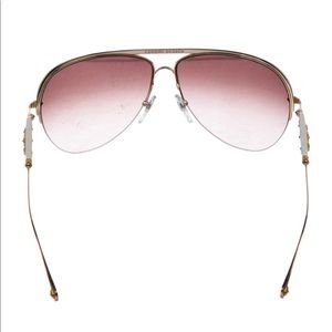 CHROME HEARTS Spanked Aviator Sunglasses